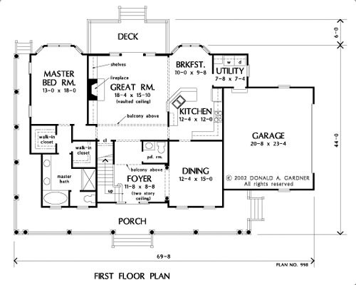 House plan the brentwood by donald a gardner architects for Brentwood house plan