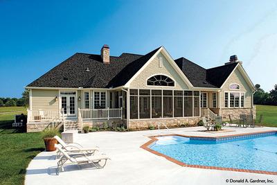 Rear Exterior House Plan