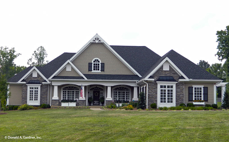 Front Exterior Photo Of Home Plan 1009 The Edgewater