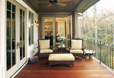 Rear Porch House Plan