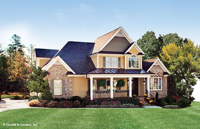 Front Exterior House Plan