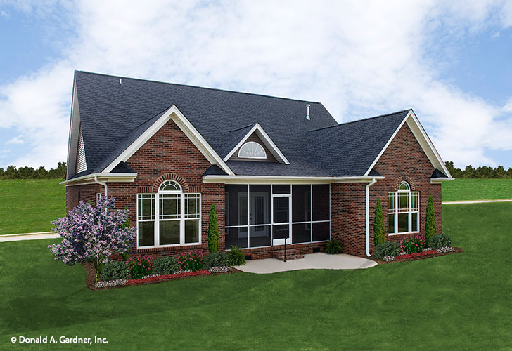 Rear Exterior Photo Of Home Plan 1073 The Sterling
