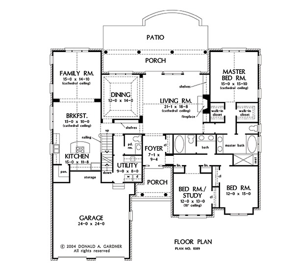 Home Plan The Bennington By Donald A. Gardner Architects