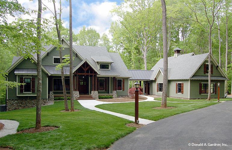 Front Exterior Photo Of Home Plan 1125 D The Cedar Ridge