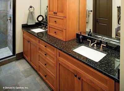 Kitchen Photo of Home Plan   the Riva RidgeMaster Bathroom House Plan