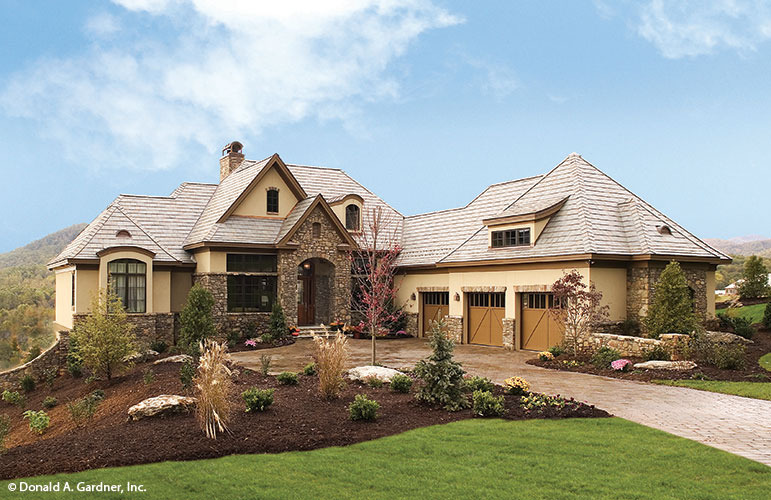 House plans with stone and stucco for Stucco home plans
