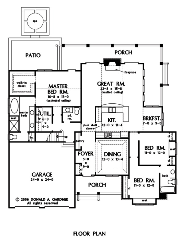 Home Plan The Jenner by Donald A  Gardner ArchitectsFloor Plans  FIRST  first
