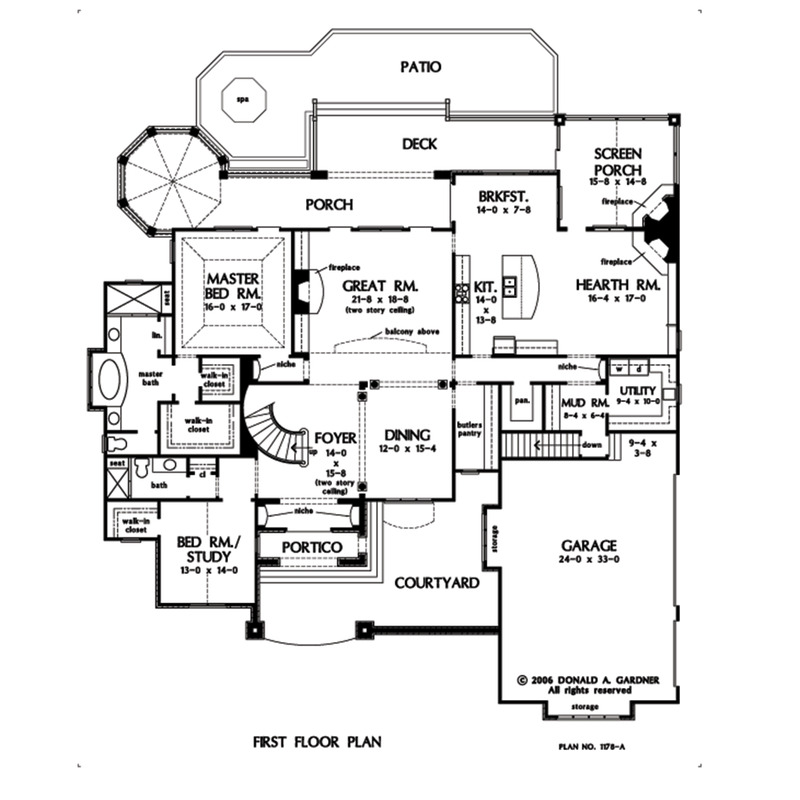 House Plan The Carrera By Donald A Gardner Architects