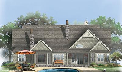 Rear Color House Plan