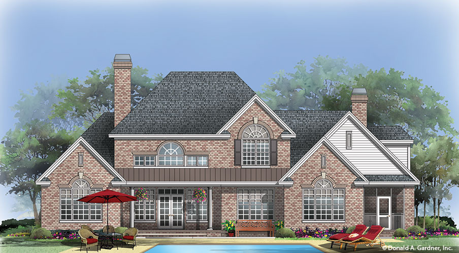 Renderings photo of home plan 1256 the eastlake for Eastlake house plan