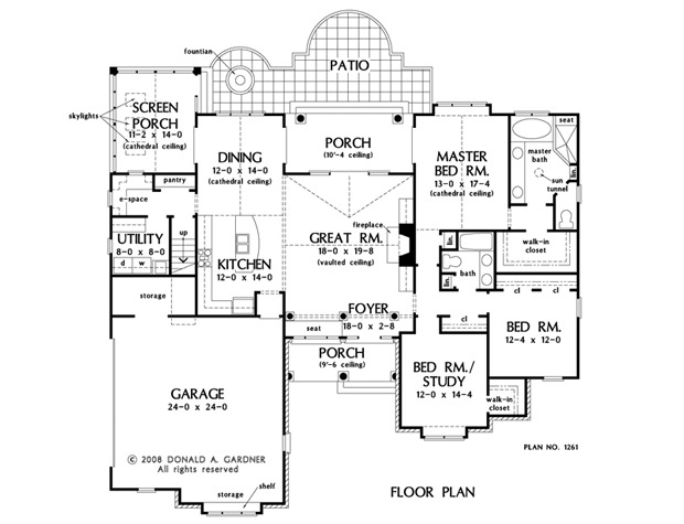 Home Plan The Sutton By Donald A Gardner Architects