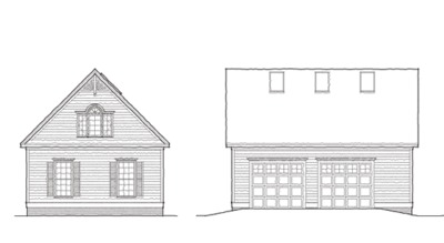 Front B&W House Plan