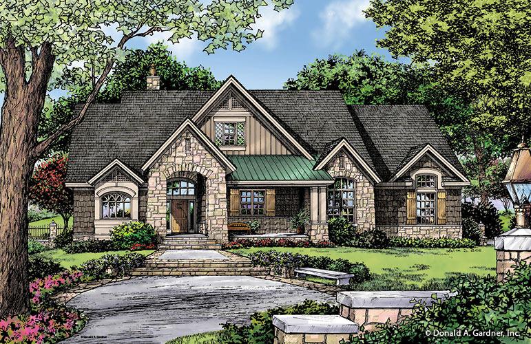 House Plan The Baskerville by Donald A  Gardner ArchitectsFront Color