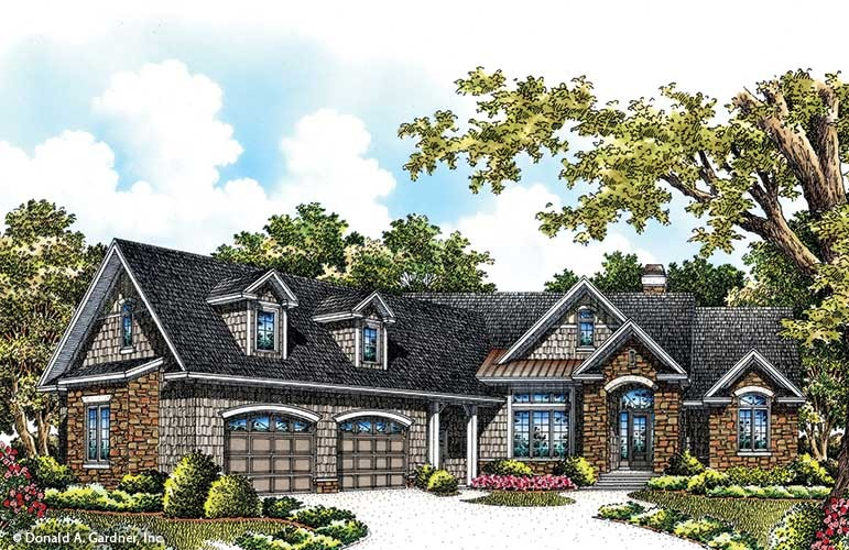 House Plan The Hunter Creek By Donald A. Gardner Architects