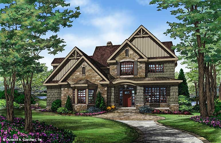 Home plan the braxton by donald a gardner architects for Small european style house plans