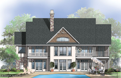 Rear Color House Plan