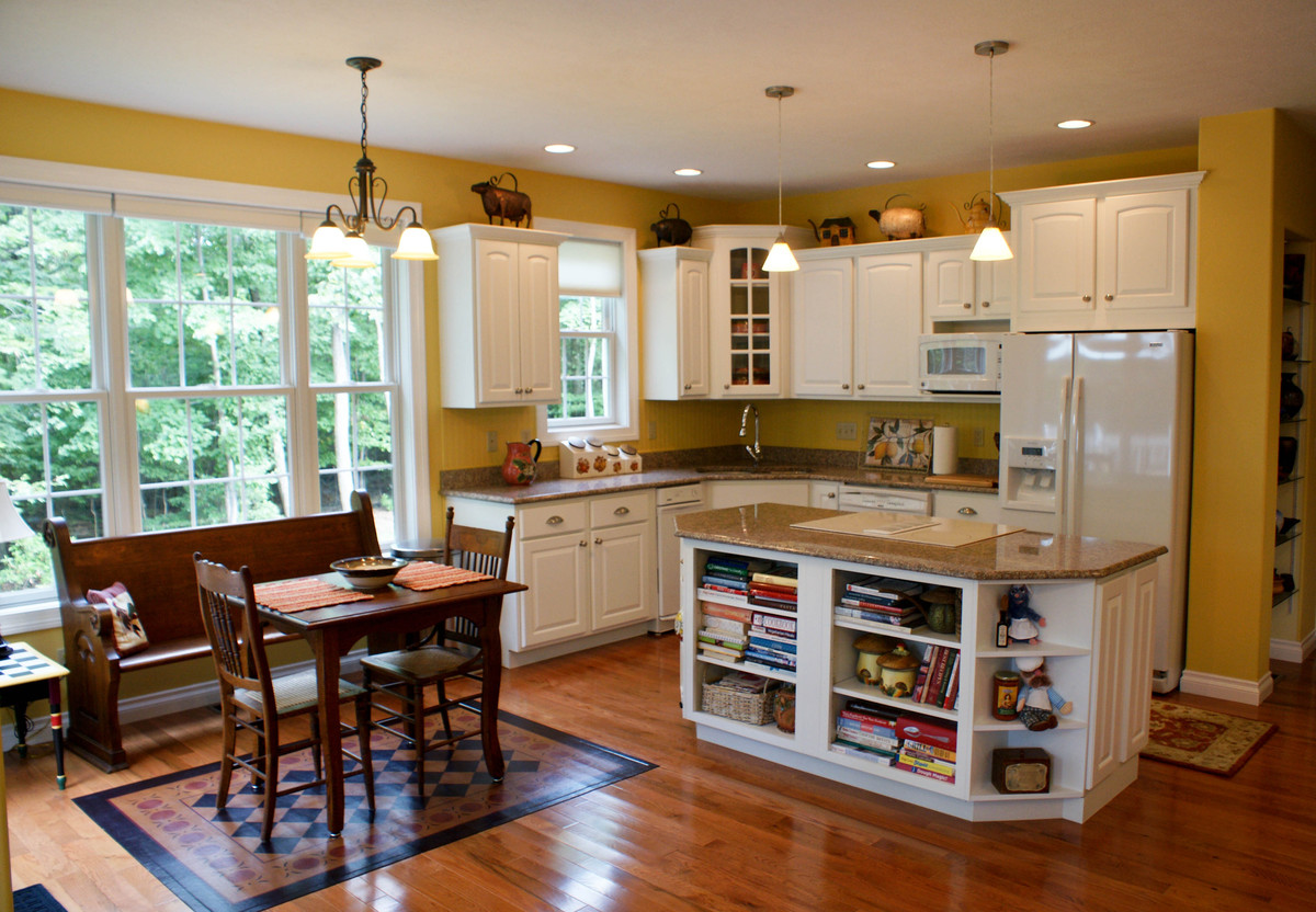 Country-Style Cabinetry in the Kitchen of The Edelweiss - House Plan Number 1013