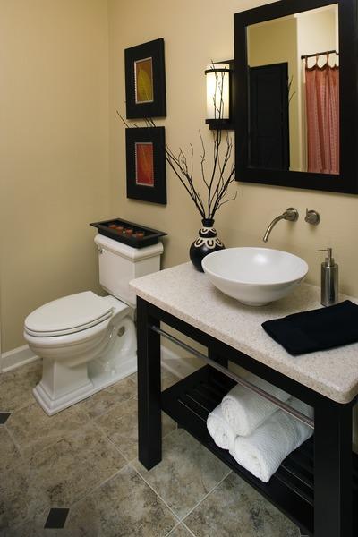 Soft LED Lighting in the bathroom of The Zeller Plan 1014