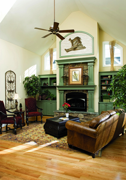 Great Room of The Derbyville - House Plan #1032