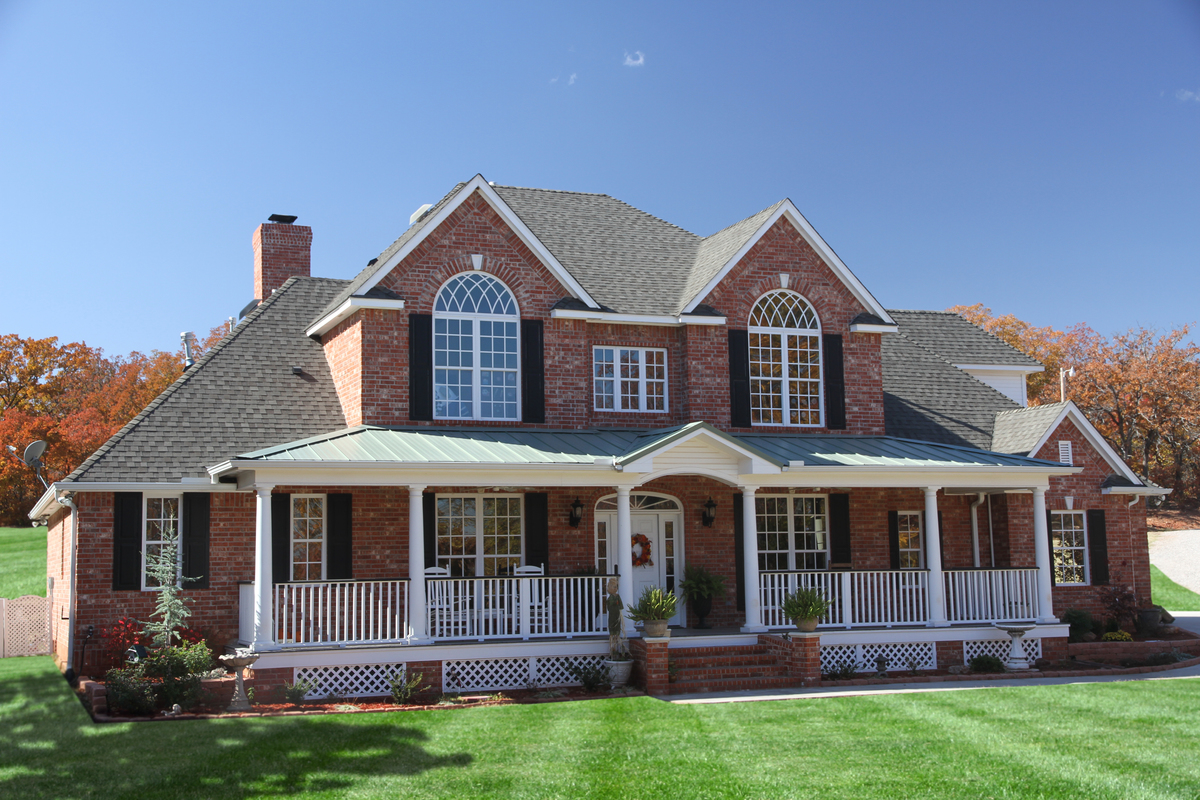 Brick Farmhouse with Southern Charm: The Peppermill Plan 1034