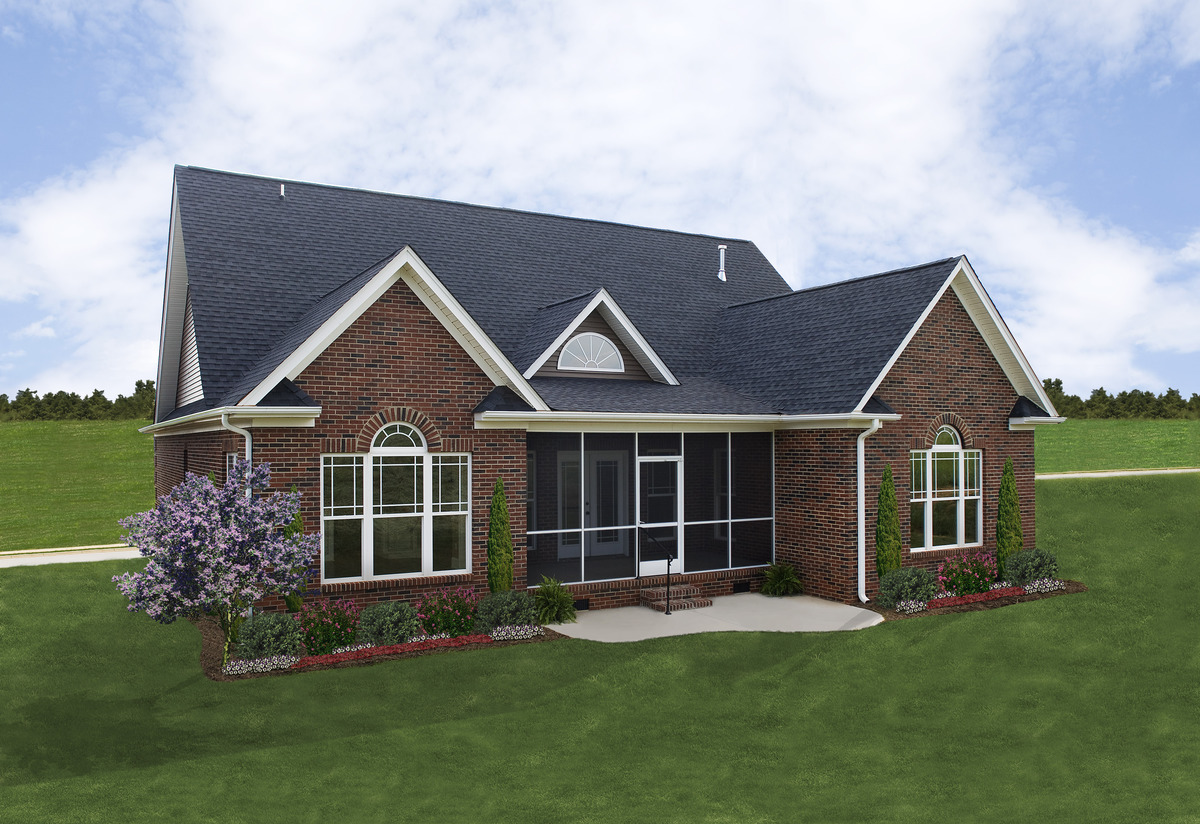 Rear Exterior - The Sterling Plan #1073
