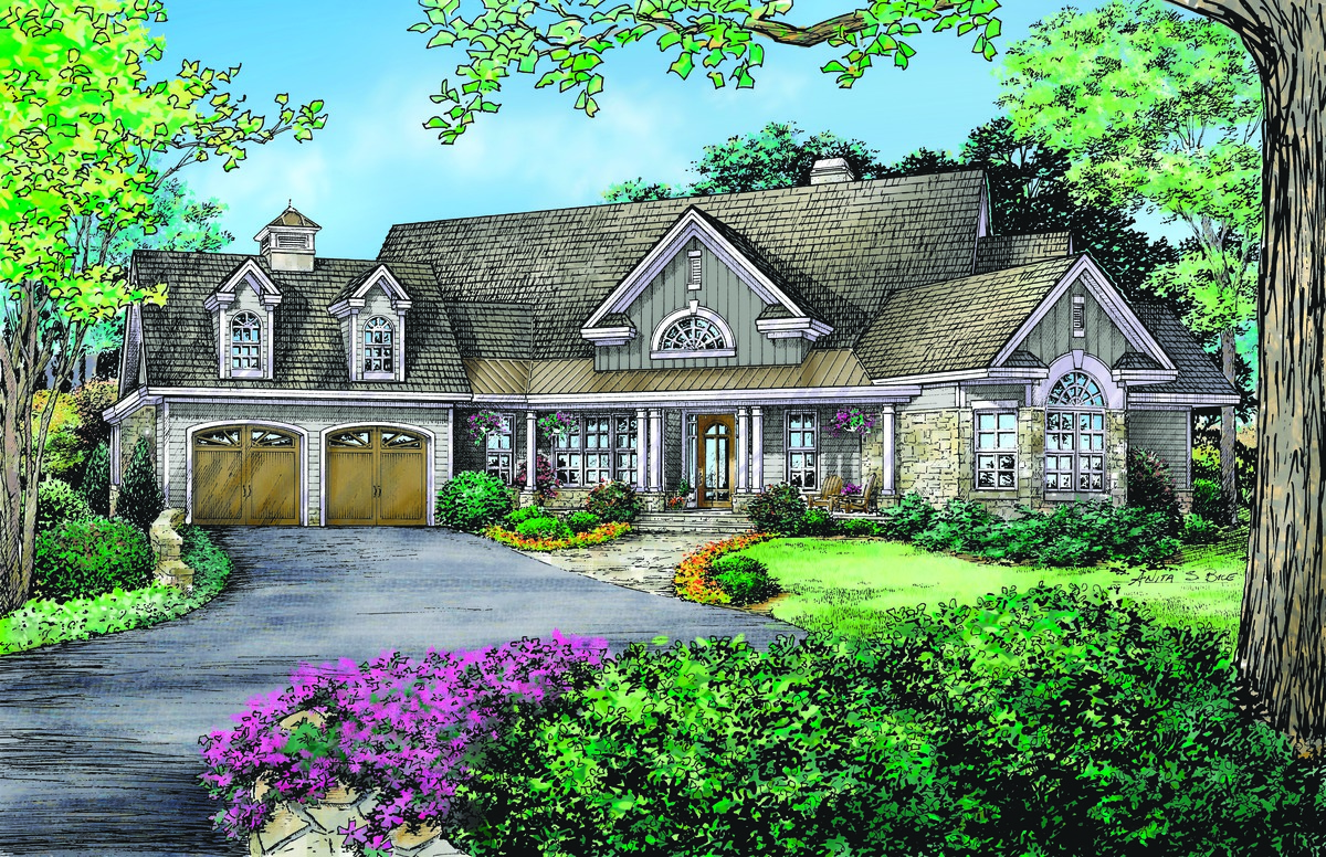 The Giverny Court - House Plan 1148: Popular Design OVER 2500 sq. ft.
