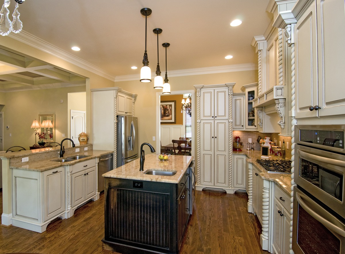 Small Kitchen with prep sink from The Runnymeade - House Plan Number 1164
