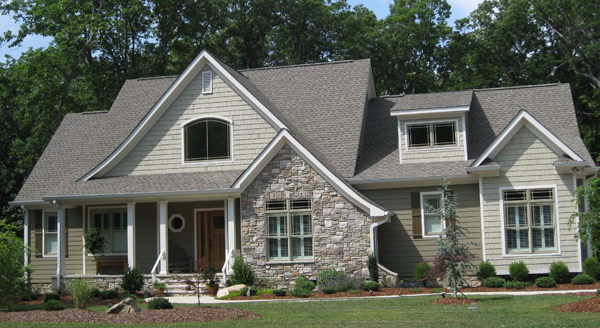 Front Exterior of The Kellswater - Home Plan 1189