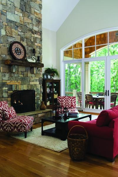 Great Room of The Genova Plan 1191-D: Indoor-outdoor living