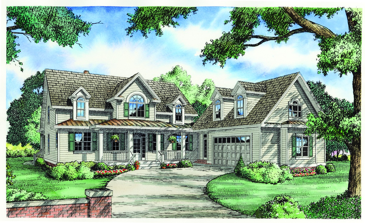 Country living house plans home designs donald a for Country living house plans