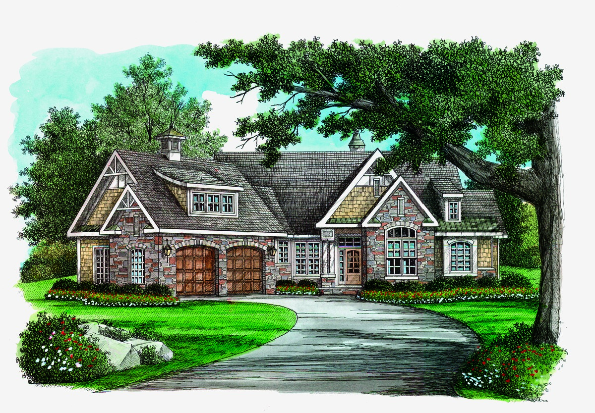 Craftsman Cottage Plan - The Hammond Hill number 1217-D