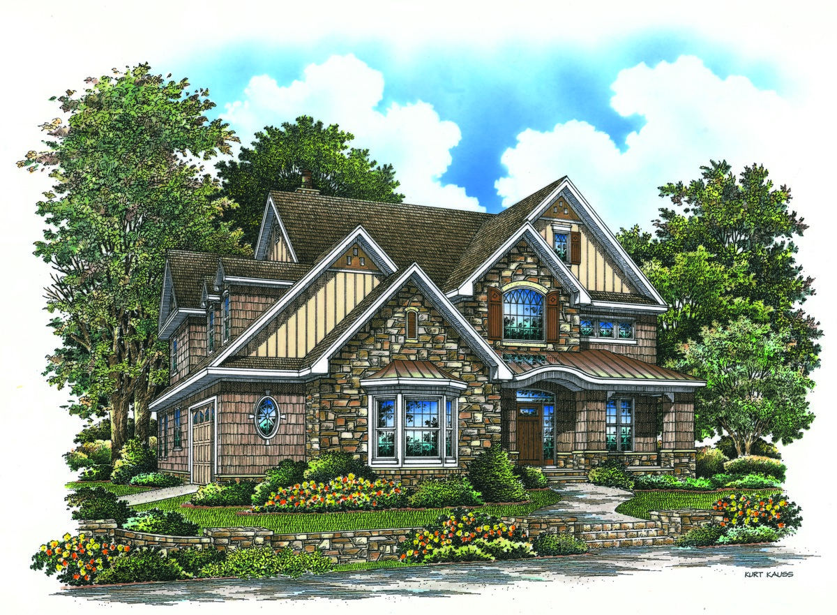 The Rutherford - Craftsman Two Story House Plan #1241
