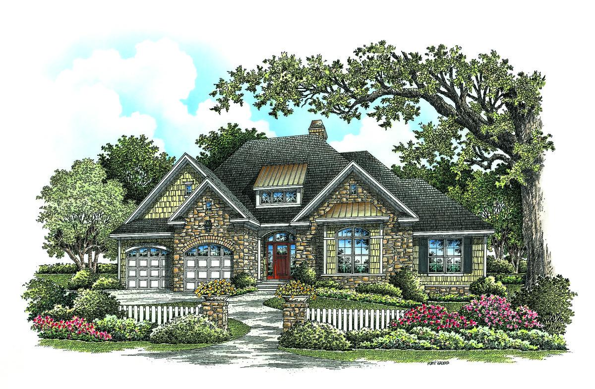 Greenbranch - Craftsman Ranch House Plan 1258