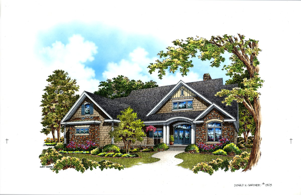 The Raleigh House Plan 1303: Under 2500 sq. ft.