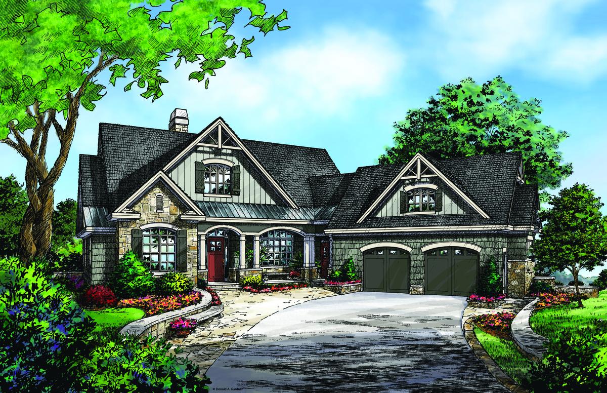 Craftsman Cottage: The Butler Ridge - Plan #1320-D