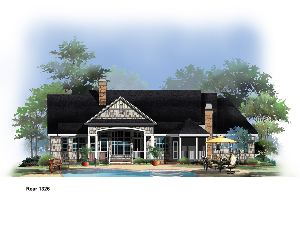 Small Rustic Craftsman Plan - The Hunter Creek #1326