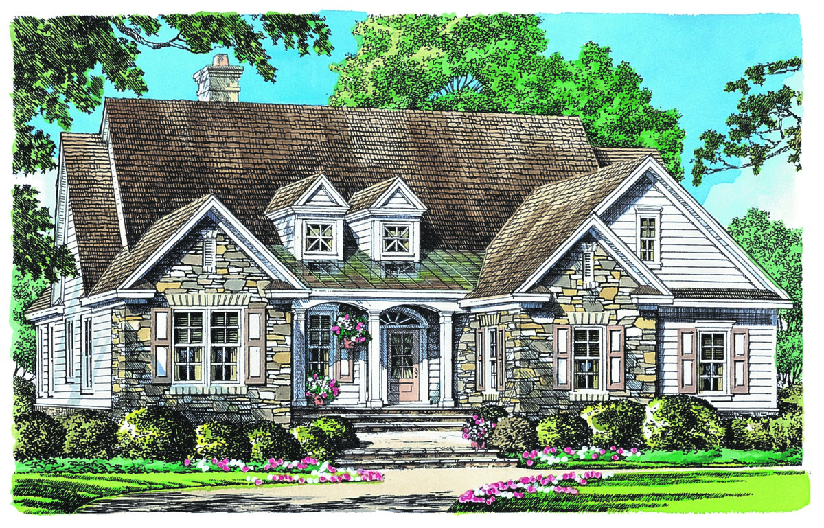 The Golding   Small Ranch Home Plan 1327
