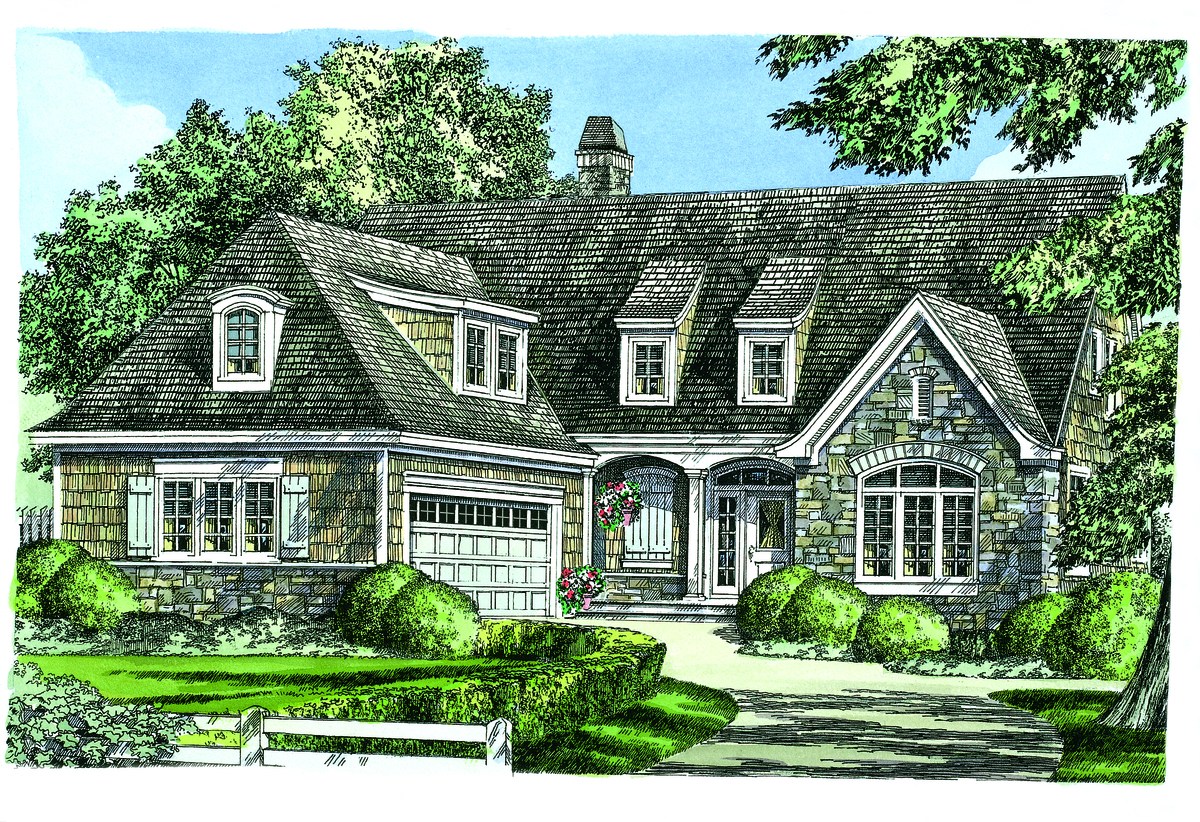The Mahoney - New European Cottage House Plan 1342