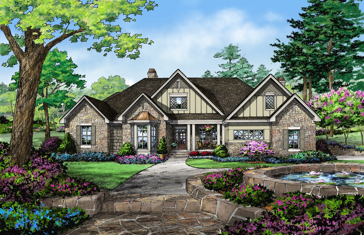 Front Rendering of The Ramsey - House Plan 1347