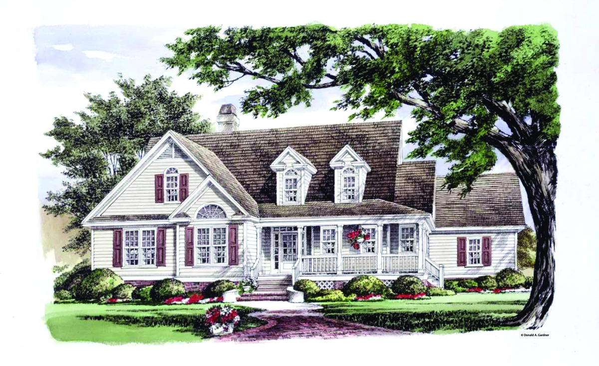 The Cornell - Country Cottage House Plan 1348