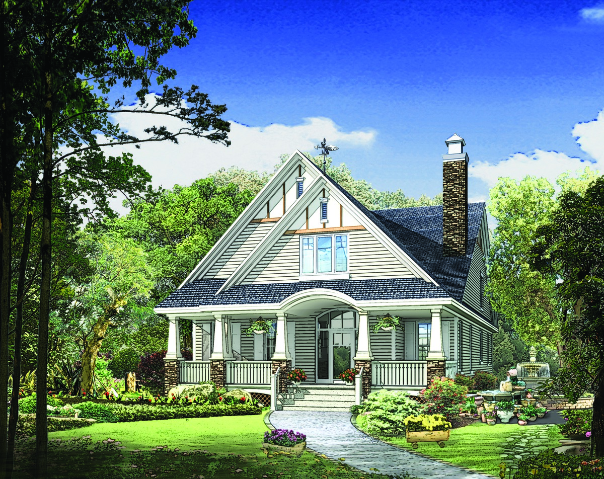 The Amelia - Bungalow Plan Number 1360-D