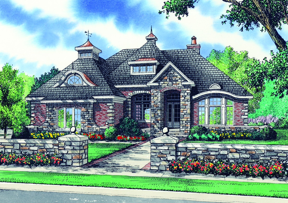 The Eliana - House Plan 1362 - Brick Cottage