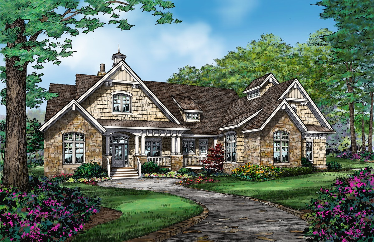 The Austin - House Plan 1409. A bathroom for each bedroom