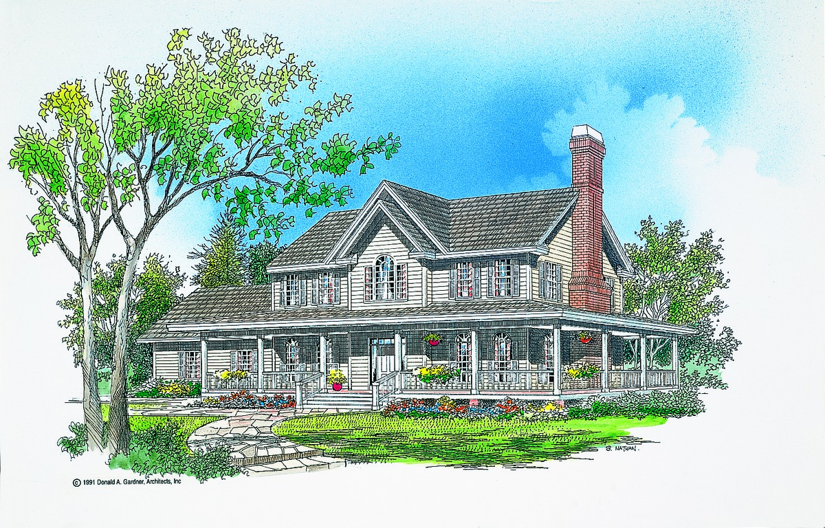 The warrenton house plan by donald a gardner architects for Gardner house plans with photos
