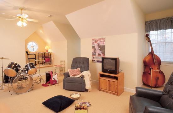 Bonus Room of The Irwin - House Plan Number 297