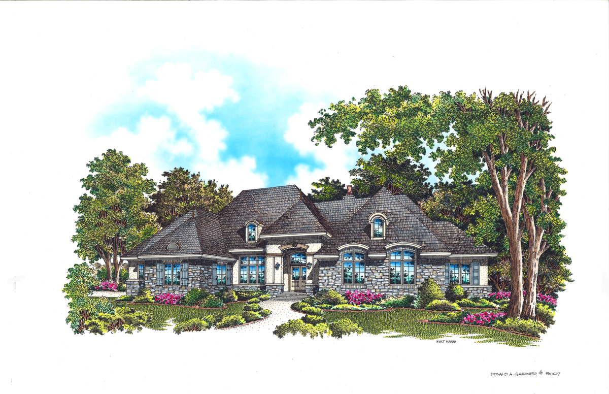 Front Rendering of The Windsor Trace - House Plan 5007