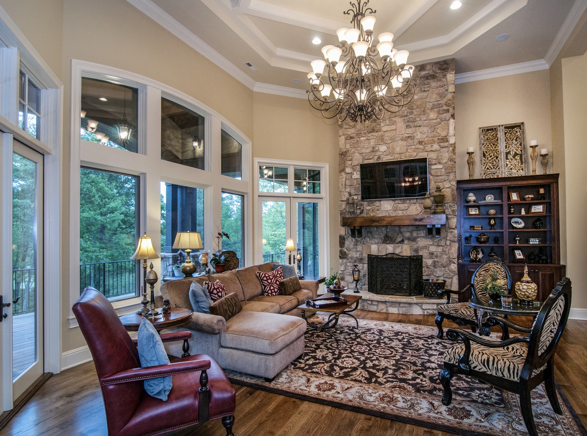 Great Room of The Jasper Hill - House Plan 5020