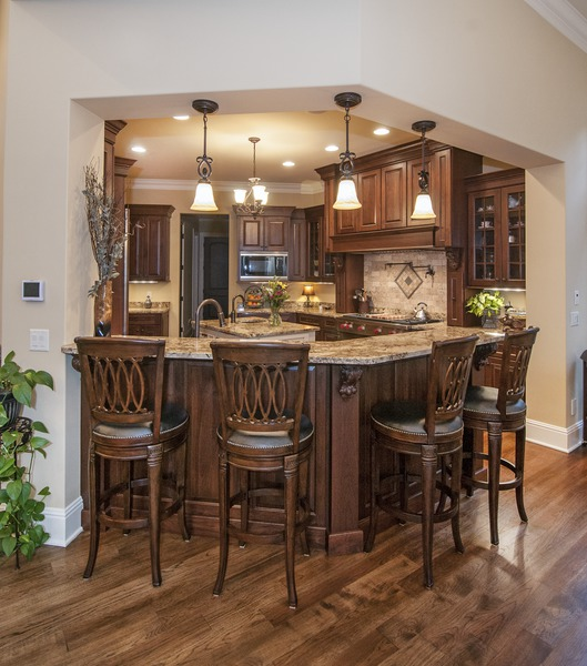 Modern traditional style - Kitchen of The Jasper Hill Plan 5020