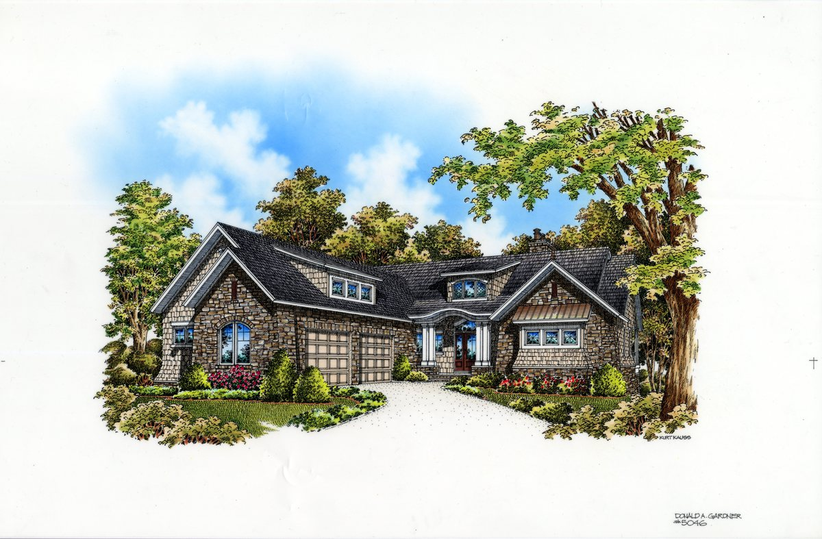 The Asiago Ridge - Home Plan 5046