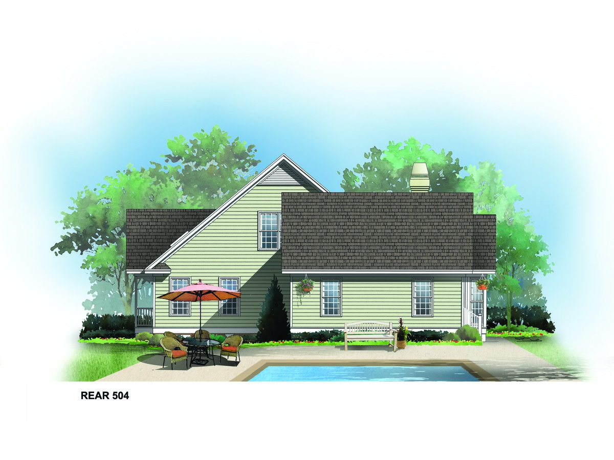 rear rendering of the joliet house plan number 504